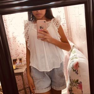 Aesthetic Trendy White Lace Blouse